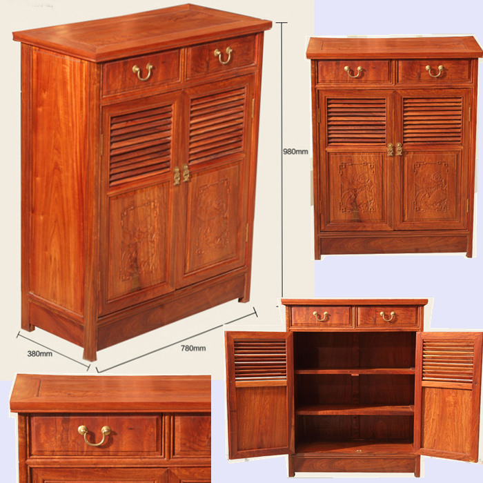 Furniture Solid Wood: Ming Dy Style Myanmar Rosewood Solid Wood Furniture Shoe